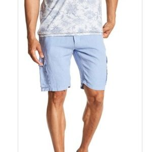 NWT BENSON Light Blue Linen Shorts